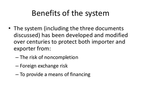 Export Documents Letter Of Credit export documents letter of credit bill of exchange