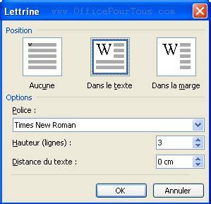 Modèle De Lettre Word 2003 Les Lettrines Dans Word