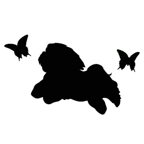 shih tzu silhouette hapiwan pet and wonderful happy rakuten global