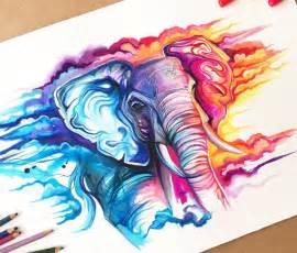 Cloud walker color drawing by katy lipscomb art no 2764