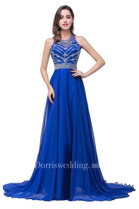 Chiffon Crop Top Royal Blue Size S Belakang Karet newest royal blue chiffon 2018 prom dress a line beadings sweep dorris wedding