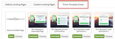 Thrive Content Builder Landing Pages Review 2018 Edition Thrive Architect Landing Page Templates