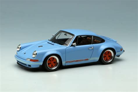 porsche singer blue gulf blue porsche singer 911 by make up co ltd 1 43