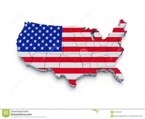 usa map 3d usa flag map 3d stock illustration image of dimensional