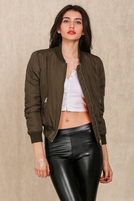 Green Basic Coat N1443 black quilted slim fit cropped motorcycle jacket coat on luulla