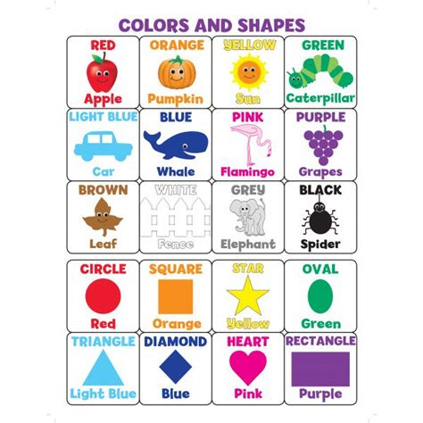 color posters colors and shapes poster