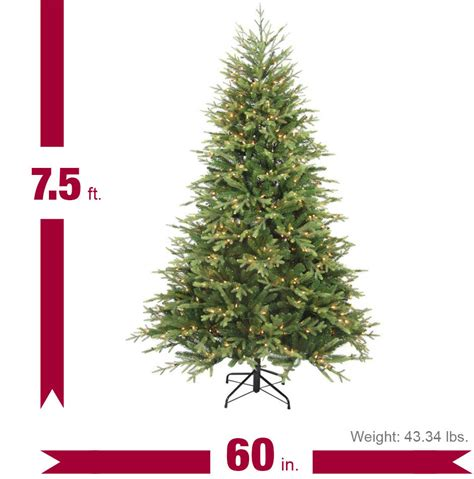 home depot christmas tree cost home accents 7 5 ft pre lit balsam artificial tree with 600 always lit clear