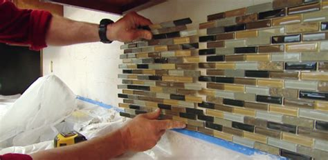 installing glass tiles for kitchen backsplashes diy kitchen upgrades and improvements today s homeowner
