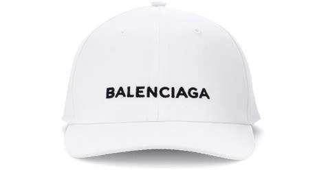 lyst balenciaga baseball cap in white