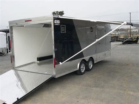 How To Open Trailer Awning by Carmate 8 5x20 Enclosed Car Trailer 7k Black Silver