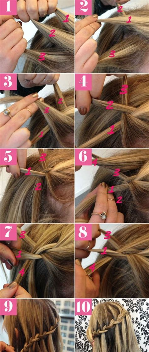 howtodo a twist in thefringe step by step 10 best waterfall braids hairstyle ideas for long hair