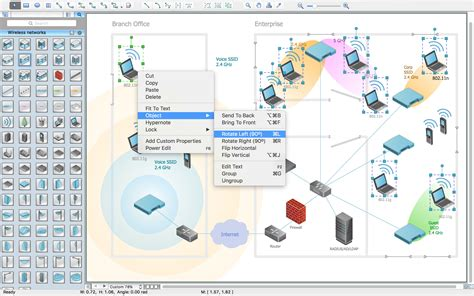 advanced visio wireless network drawing conceptdraw pro is an advanced