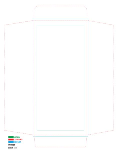 a4 envelope printing template free download