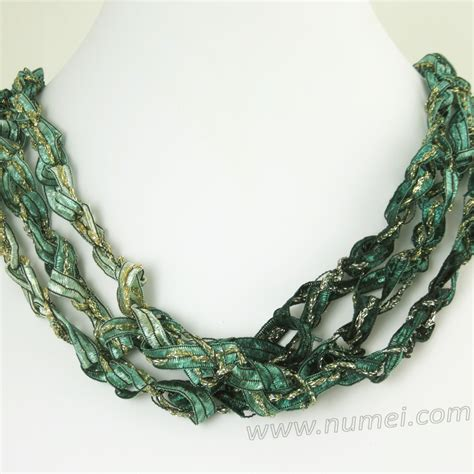 Handmade Ribbon - handmade ribbon necklace gr5