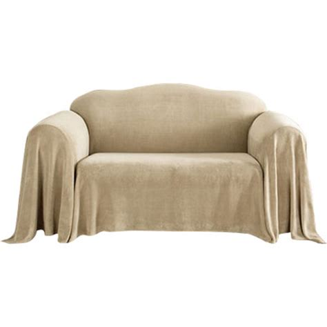 sure fit plush sofa throw cover sure fit plush throw sofa slipcover reviews wayfair
