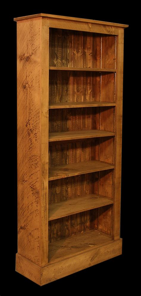 rustic plank bookcases the pinehouse company
