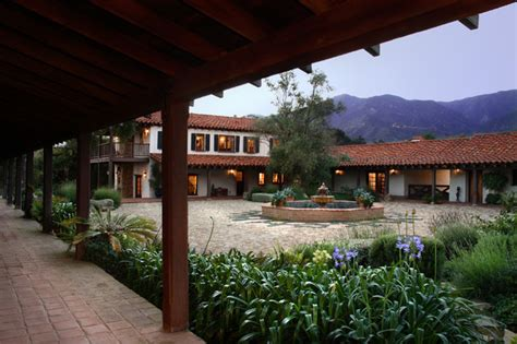 adobe house plans with courtyard adobe courtyard mediterranean exterior santa barbara