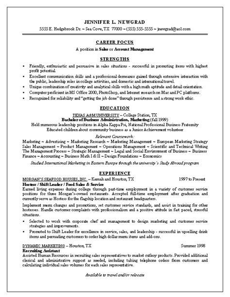 sample recent college graduate resume recent college graduate resume
