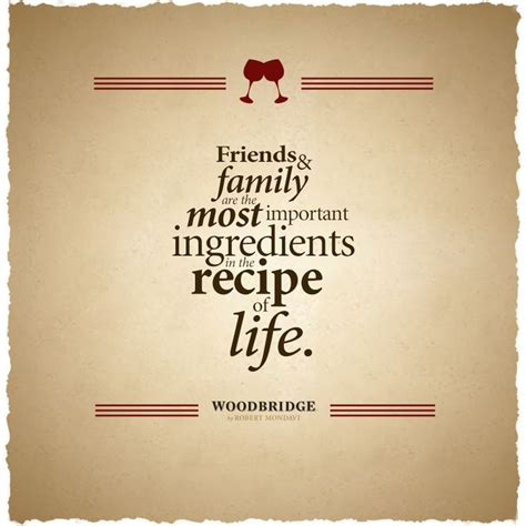 The Recipe Thing by Friends And Family Are The Most Important Ingredients In