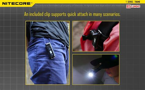 Nitecore Thumb Dual Color Led Usb Rechargeable Keychain Light best led flashlights canada j2ledflashlight