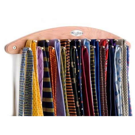 deluxe wall mounted tie rack to organize 21 ties