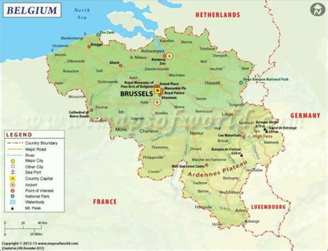 map of belgium and belgium map holidaymapq