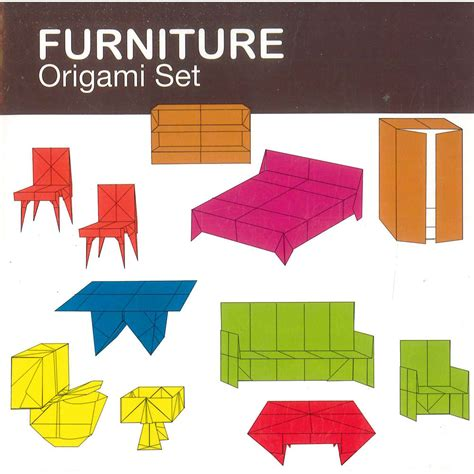 Furniture Origami - furniture origami set origami at the works