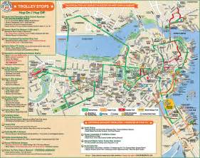 umass cus map trolleytours boston town trolley route map usa massachusetts