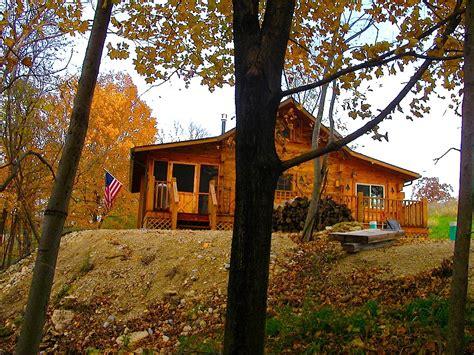 Iowa Cabin Rentals by Hunters Hollow 2 Bedroom Log Cabin Iowa Cabin Rentals