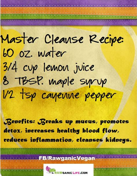 Master Cleanse Detox Recipe by Master Cleanse Fms