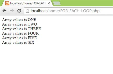tutorial php echo print echo array values on screen using foreach loop in