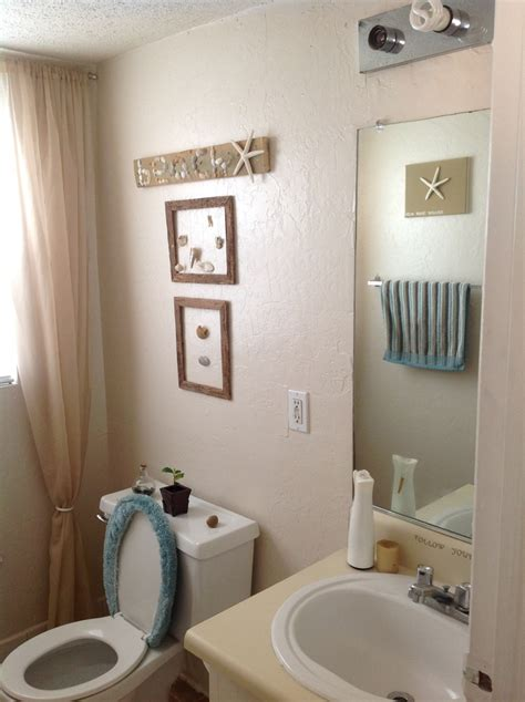 theme bathroom my small rental beach themed bathroom our stoneman home pint