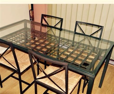 Glass Top Kitchen Table by Letgo Ikea Glass Top Kitchen Table In Flint Ca