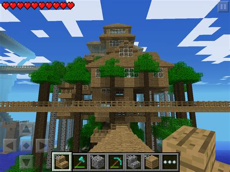 minecraft tree houses w1 tree house near tower 1 and 2 in minecraft pe my