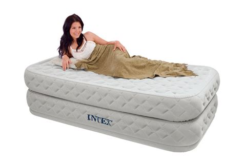 intex supreme air flow bed raised airbed mattress w model 64461e ebay