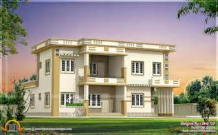 Contemporary villa in different color binations home kerala plans