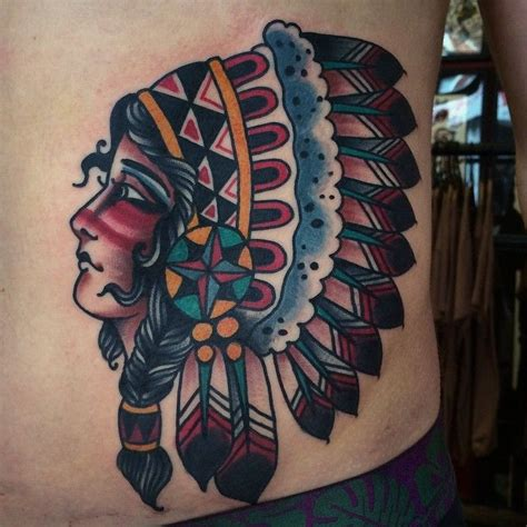 traditional indian tattoo 1000 ideas about headdress on thigh