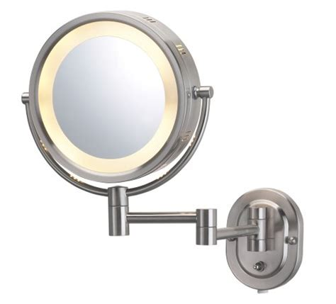 jerdon lighted magnifying mirror jerdon hl65n 8 inch lighted wall mount mirror 5x