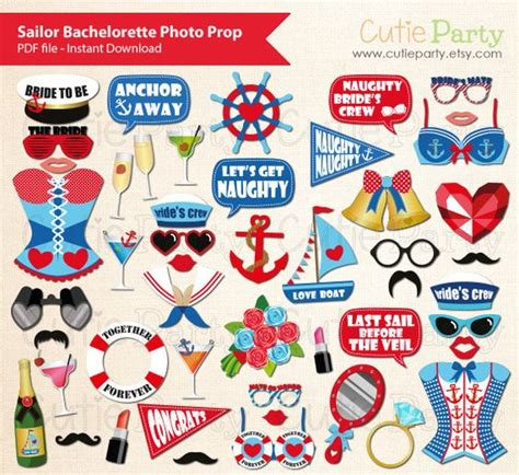 printable sailor photo booth props sailor themed bachelorette party photo booth prop