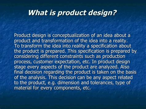 product layout explain product design concept