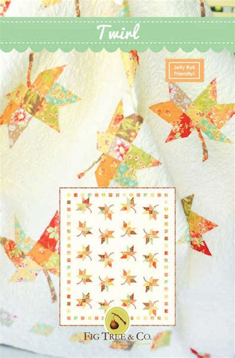 Fig Tree Quilts Patterns by Fig Tree Co Twirl Quilt Pattern Quilt Size Jelly