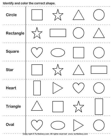 identify shapes worksheet 5 turtle diary