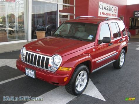 red jeep liberty 2007 2007 jeep liberty limited 4x4 in inferno red crystal pearl