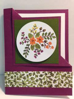 Decorative Cards Handmade - corner flip technique card into the woods decorative