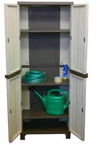 Plastic Outdoor Storage Cabinet Strong Outdoor Plastic Storage Utility Cabinet Garden Tool Store Shed Patio Home