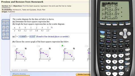 calculator regression least squares regression line on the ti83 ti84 calculator