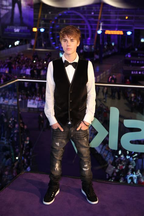 Justins Premiere by Justin Bieber Never Say Never European Premiere Photos