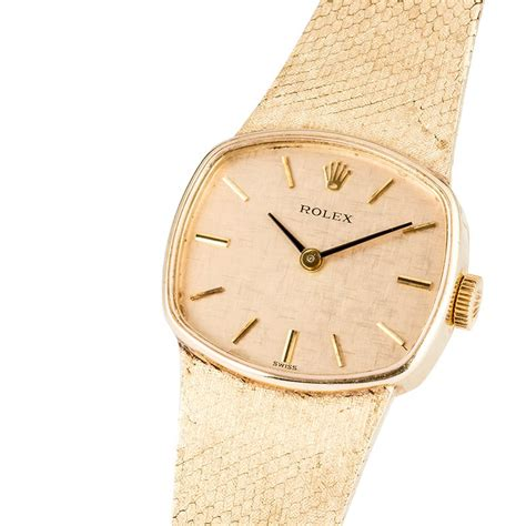 rolex vintage cocktail 14k gold