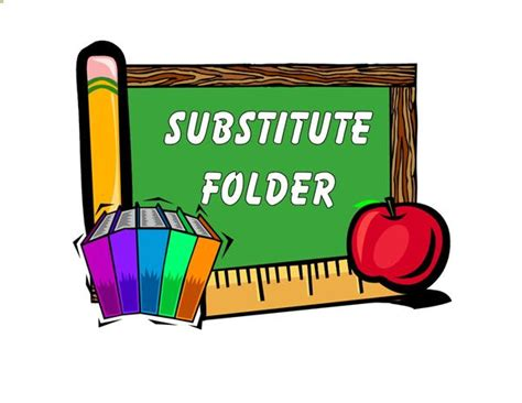 Human Resources Substitute Opportunities Substitute Folder Template