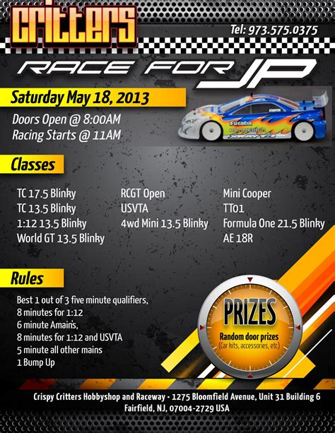 jp new jersey critters race for jp new jersey may 18th 2013 r c tech